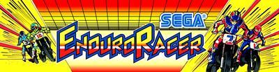 Enduro Racer - Arcade - Marquee