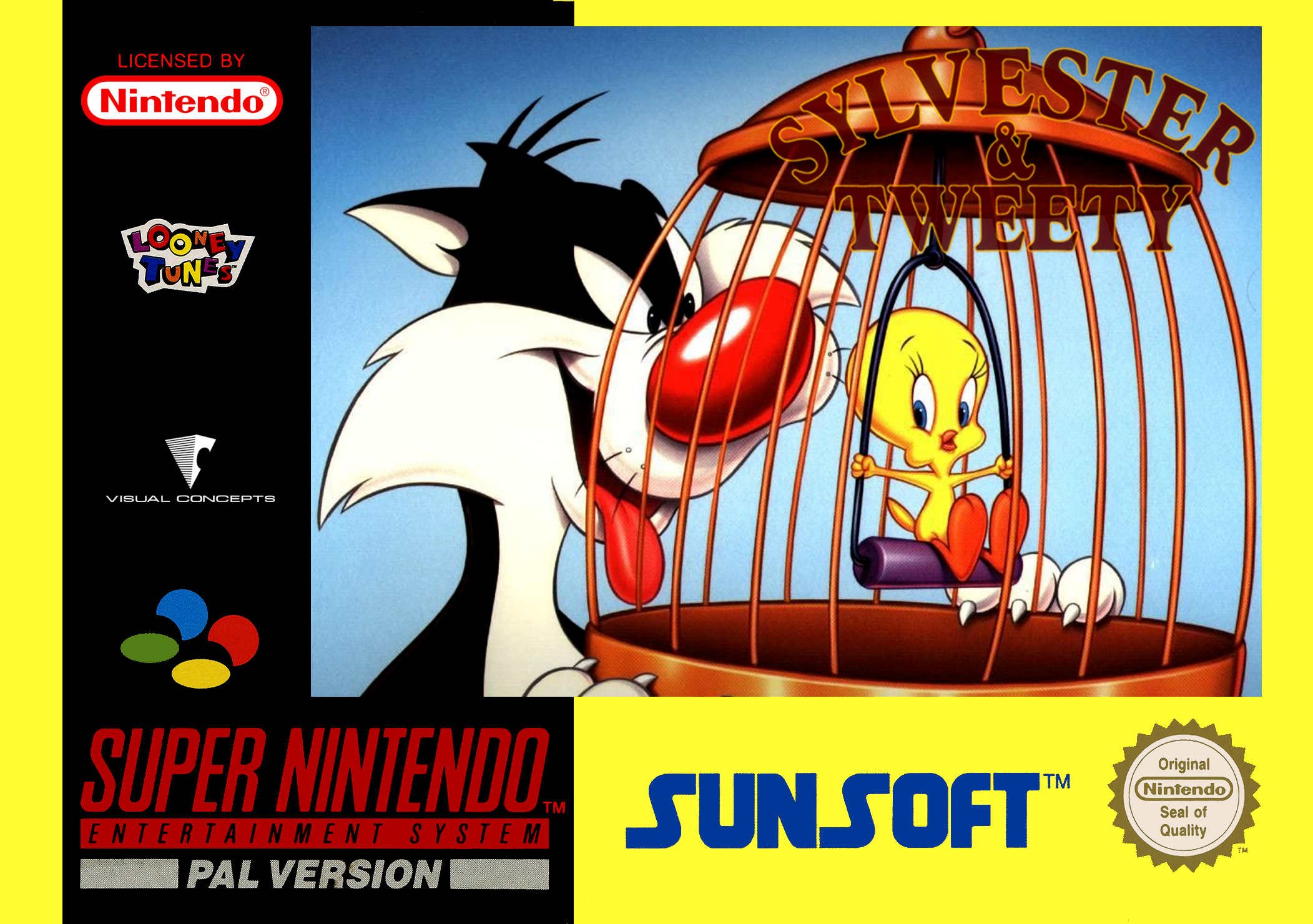 sylvester and tweety details  launchbox games database