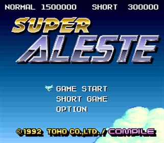 Super Aleste - Screenshot - Game Title