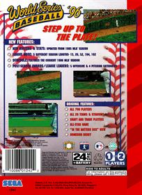 World Series Baseball '96 - Box - Back