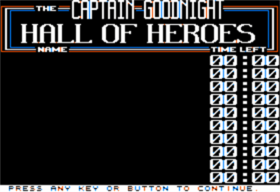 Captain Goodnight and the Islands of Fear - Screenshot - High Scores