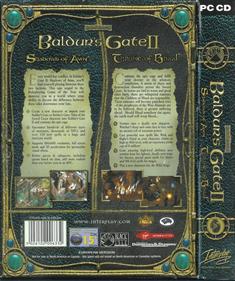 Baldur's Gate II: Throne of Bhaal - Box - Back