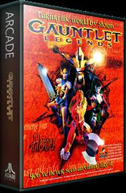 Gauntlet Legends - Box - 3D