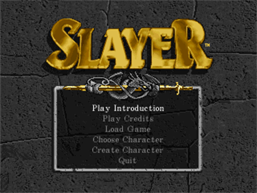 Advanced Dungeons & Dragons: Slayer - Screenshot - Game Title