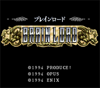 Brain Lord - Screenshot - Game Title