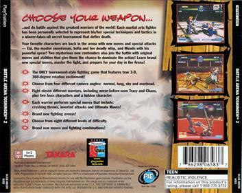 Battle Arena Toshinden 2 - Box - Back