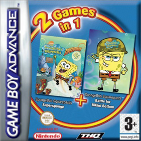 2 Games in 1: SpongeBob SquarePants: Battle for Bikini Bottom + SpongeBob SquarePants: Supersponge