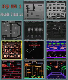 39 In 1 (MAME Arcade Classics Bootleg) - Box - Back