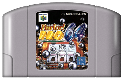Parlor! Pro 64: Pachinko Jikki Simulation Game - Fanart - Cart - Front