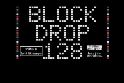 Block Drop 128 - Screenshot - Game Title