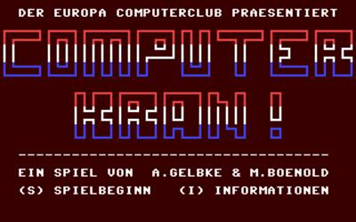 Computer Kran - Screenshot - Game Title