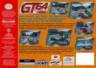 GT 64: Championship Edition - Box - Back