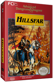 Advanced Dungeons & Dragons: Hillsfar - Box - 3D