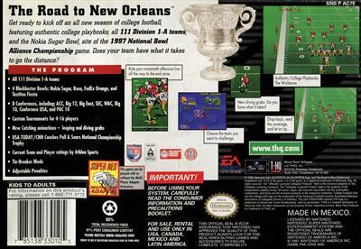 College Football USA 97 - Box - Back