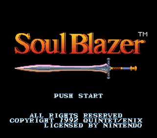 Soul Blazer - Screenshot - Game Title