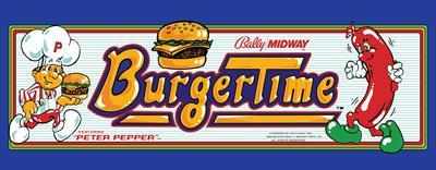 Burger Time - Arcade - Marquee