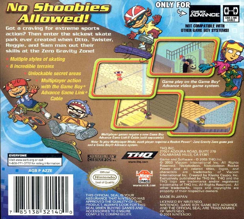 rocket power zero gravity zone details launchbox games database