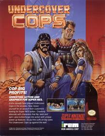 Undercover Cops - Advertisement Flyer - Front
