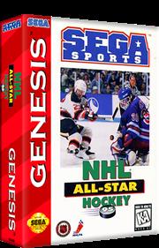 NHL All-Star Hockey '95 - Box - 3D