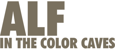Alf in the Color Caves - Clear Logo