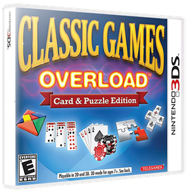Classic Games Overload: Card & Puzzle Edition - Box - 3D