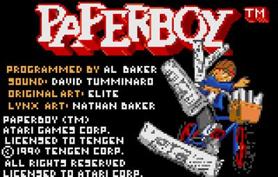 Paperboy - Screenshot - Game Title