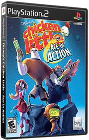 Chicken Little: Ace in Action - Box - 3D