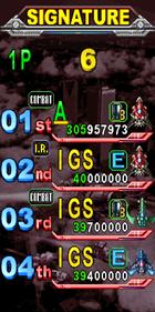 DoDonPachi II: Bee Storm - Screenshot - Game Select