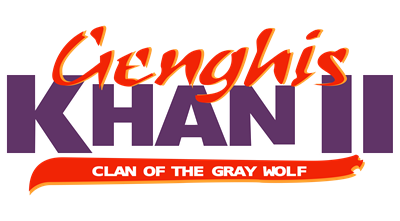 Genghis Khan II: Clan of the Gray Wolf - Clear Logo