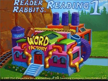 Reader Rabbit's Reading 1 - Screenshot - Game Title