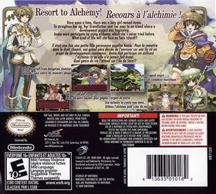 Atelier Annie: Alchemists of Sera Island - Box - Back
