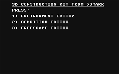 3D Construction Kit - Screenshot - Game Title