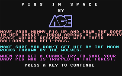Pigs in Space - Screenshot - Game Title