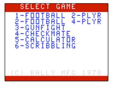Football - Screenshot - Game Title