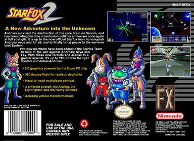 Star Fox 2 - Box - Back