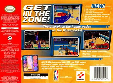 NBA in the Zone '99 - Box - Back