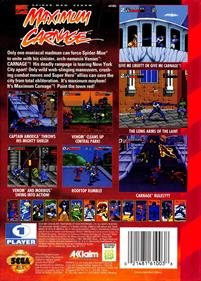 Spider-Man & Venom: Maximum Carnage - Box - Back