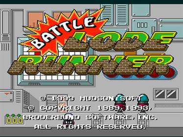 Battle Lode Runner - Screenshot - Game Title
