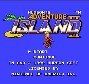 Adventure Island II - Screenshot - Game Title