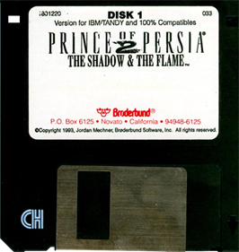Prince of Persia 2: The Shadow & The Flame - Disc