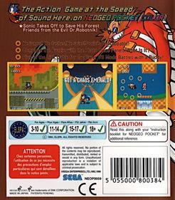 Sonic the Hedgehog Pocket Adventure - Box - Back