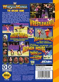 WWF WrestleMania: The Arcade Game - Box - Back - Reconstructed