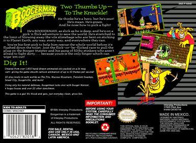 Boogerman: A Pick and Flick Adventure - Box - Back