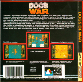 Dogs of War - Box - Back