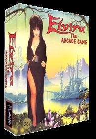Elvira: The Arcade Game - Box - 3D