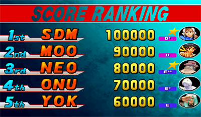 Street Fighter III: 3rd Strike: Fight for the Future - Screenshot - High Scores