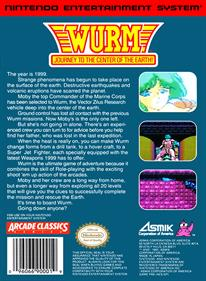 Wurm: Journey to the Center of the Earth - Box - Back