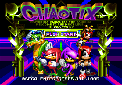 Knuckles' Chaotix - Screenshot - Game Title