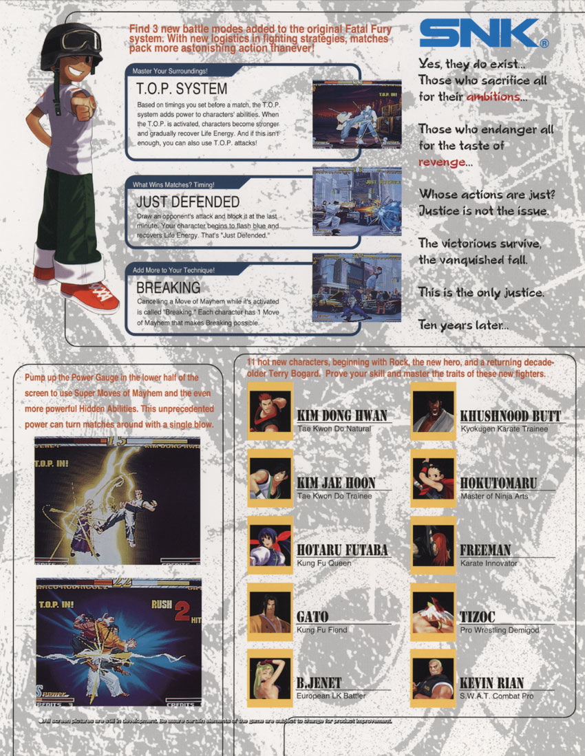 Garou Mark Of The Wolves Details Launchbox Games Database Although his appearance in the 2d king of fighters is highly. garou mark of the wolves details