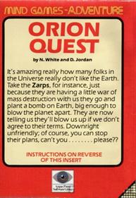 Orion Quest - Box - Back